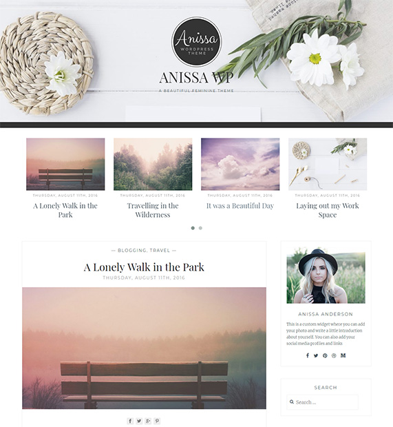 Anissa Wordpress Blog Theme