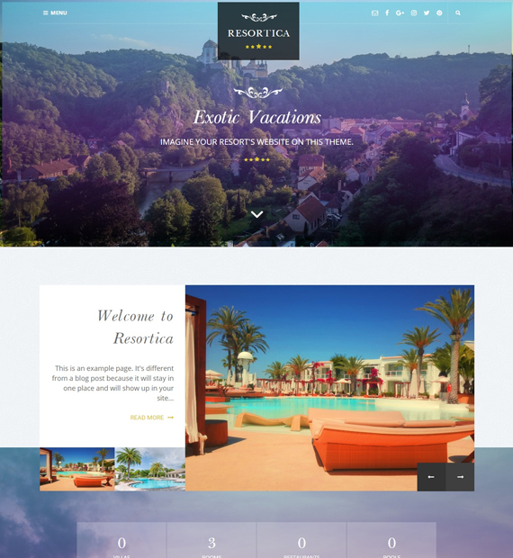 resortica-WordPress-business-theme