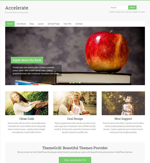 Accelerate WordPress Multipurpose Theme