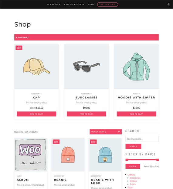 Buildr Ecommerce WordPress Theme