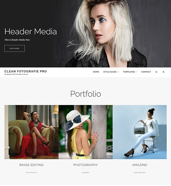 Clean Fotografie Photography Theme