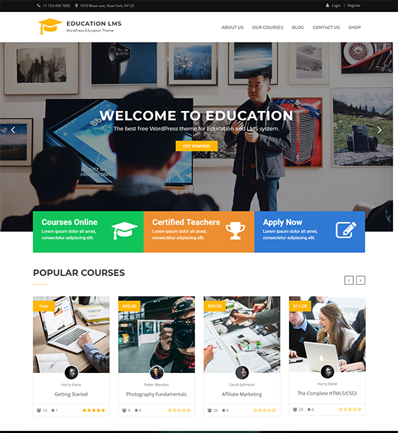 Education LMS WordPress Education Theme
