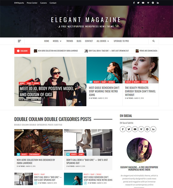 Elegant Magazine WordPress Mutipurpose theme
