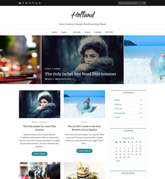 Holland-Free-WordPress-Blogging-Theme