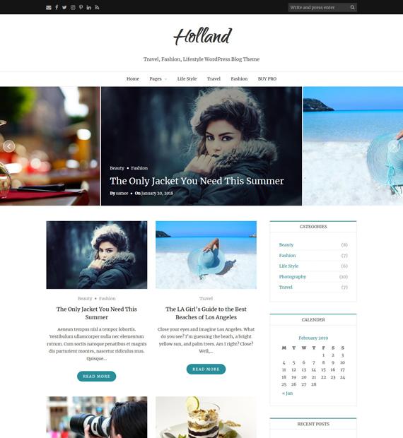 Holland-Free-WordPress-Blogging-Theme