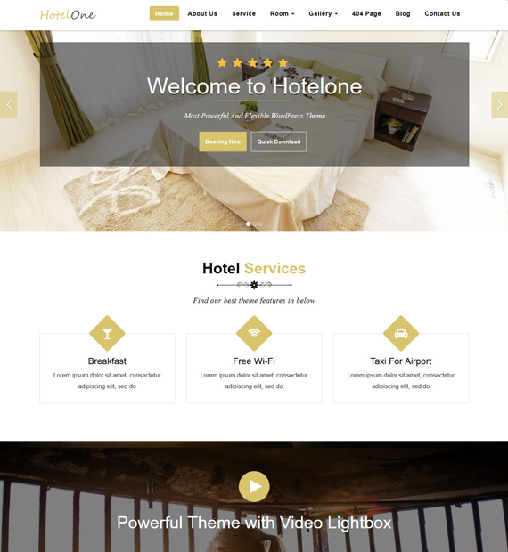 Hotelone-WordPress-Business-Theme