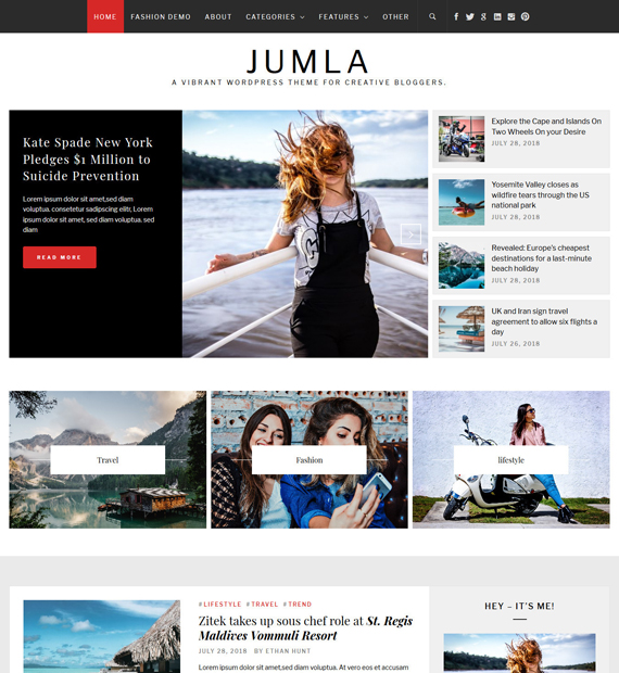 Jumla-WordPress-Blogging-Theme