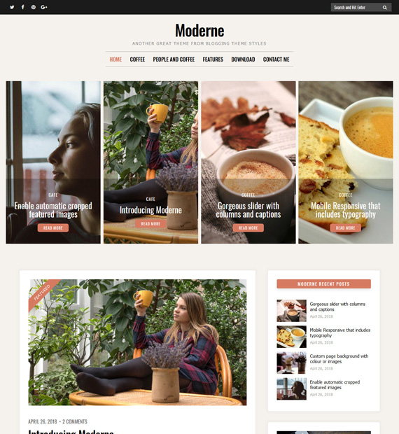 Moderne-WordPress-Blogging-Theme