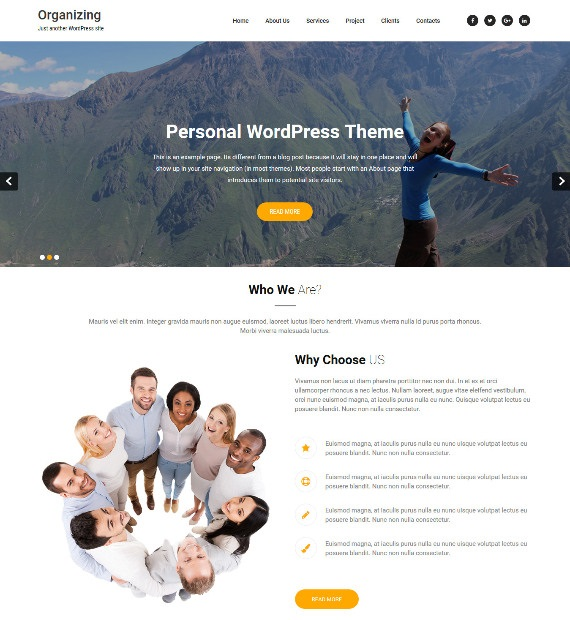 Organizing-WordPress-Multipurpose-Theme