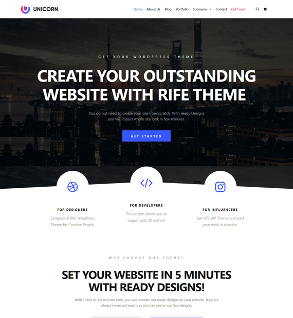 Rife-Free-WordPress-Photography-Theme