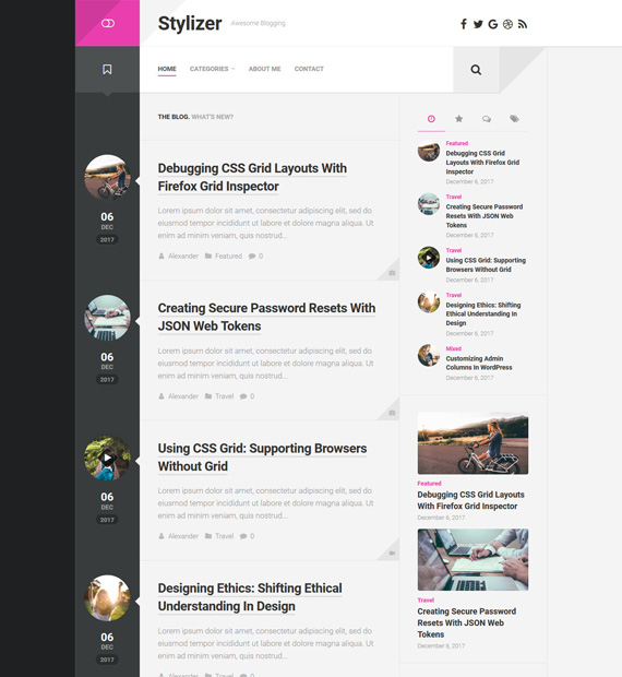 Sylizer-WordPress-Blogging-Theme