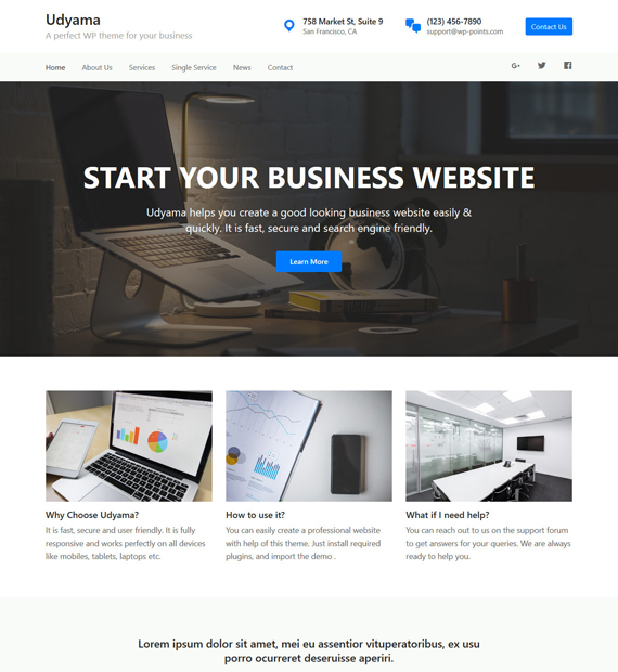 Udyama-WordPress-Business-Theme