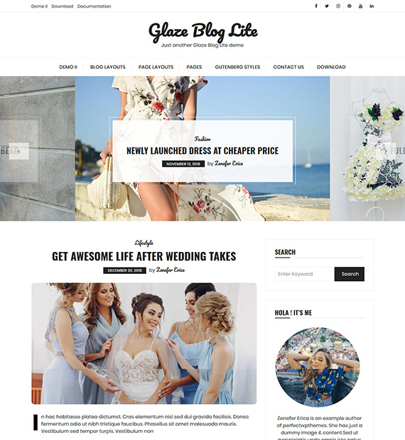 glaze-blog-lite-wordpress-blogging-theme