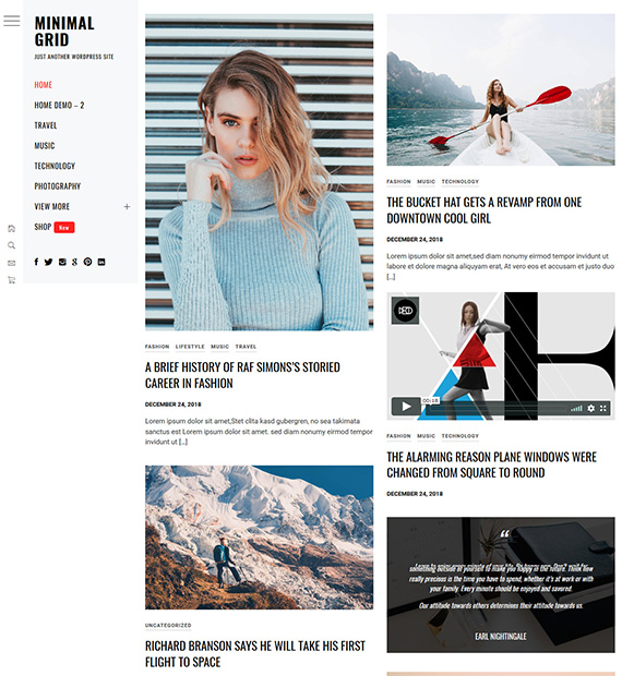 minimal-grid-wordpress-blogging-theme