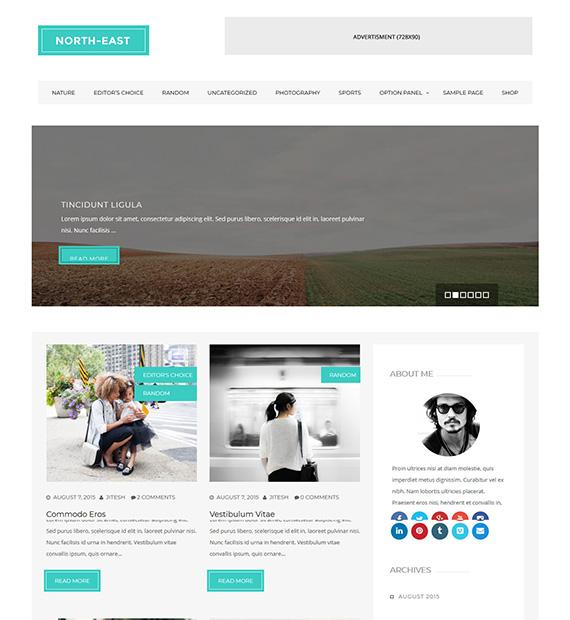 north-east-wordpress-blogging-theme
