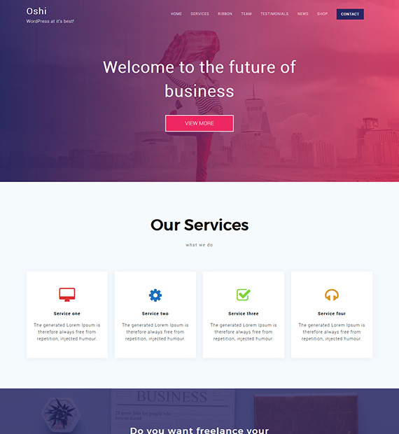 oshi-wordpress-business-theme