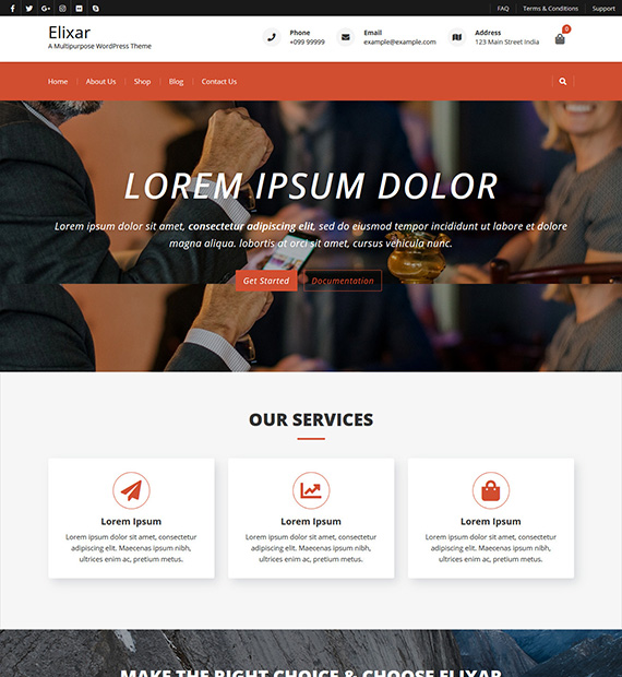 elixar-wordpress-business-theme