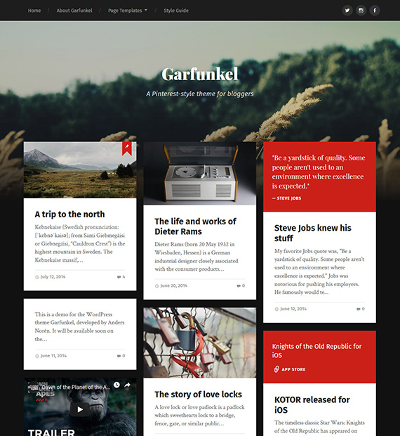 garfunkel-wordpress-blogging-theme