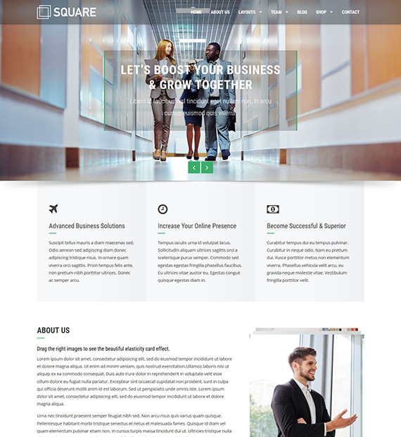 square-wordpress-business-theme