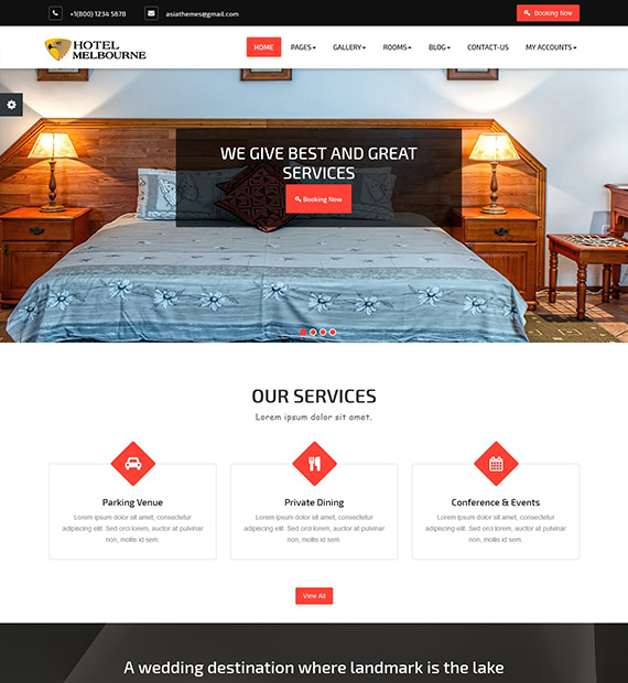 hotel-melbourne-wordpress-business-theme