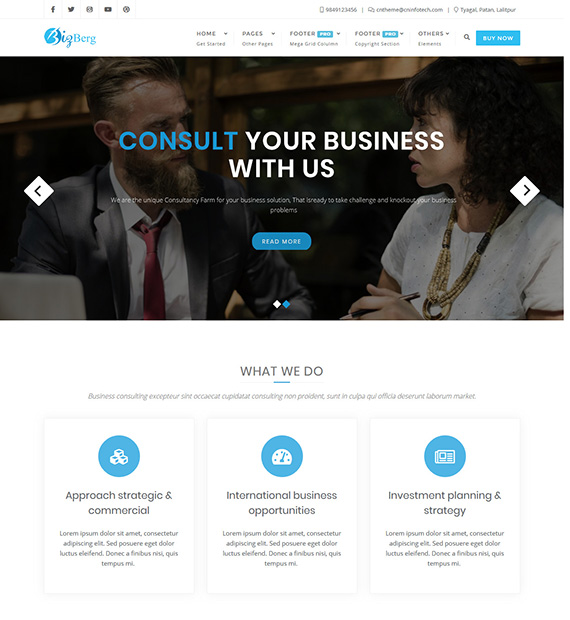 Bizberg WordPress Business Theme