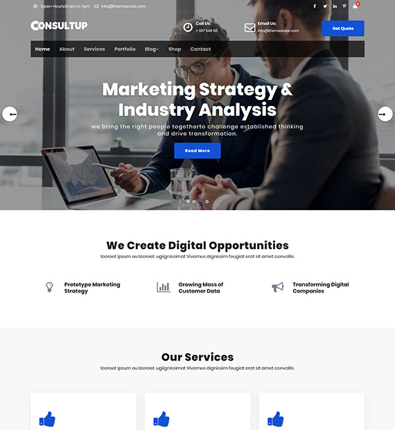 Consultup WordPress Business Theme
