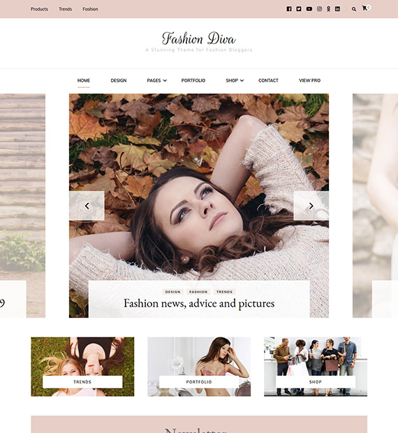 Fashion Diva WordPress Blogging Theme