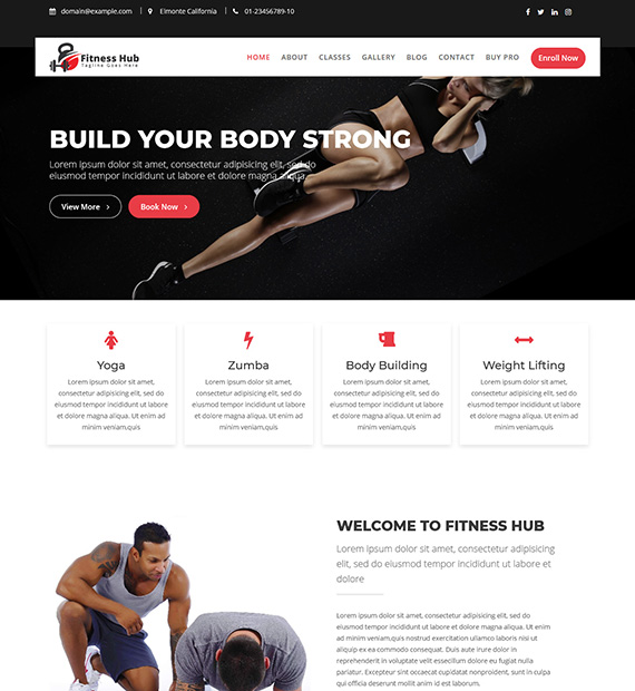 Fitness Hub WordPress Fitness Theme