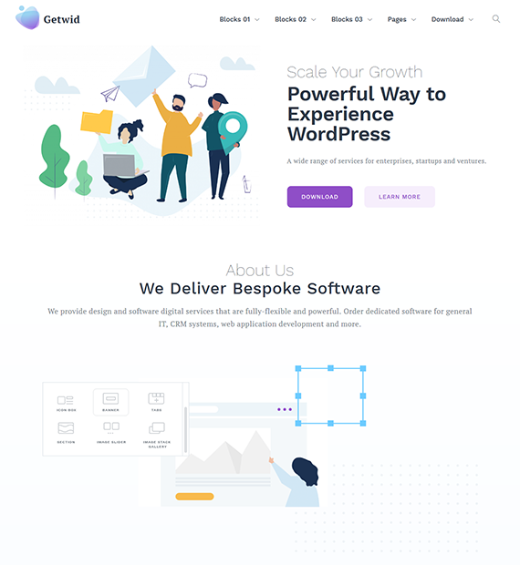 Getwid Base WordPress Business Theme