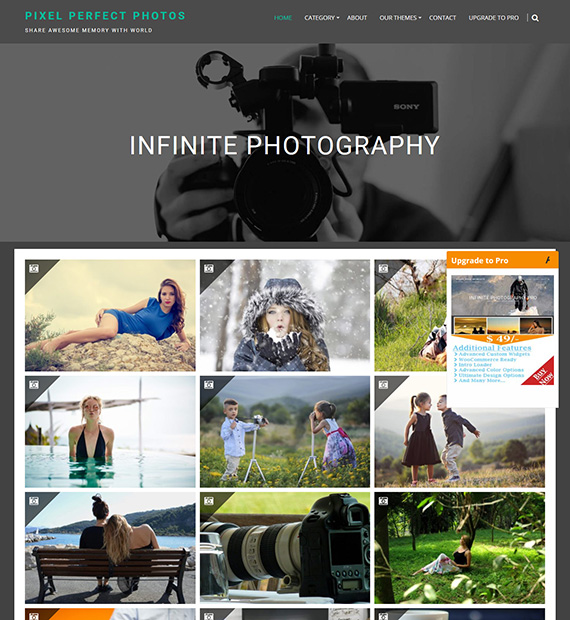 Infinite Photography WordPress Photography Theme