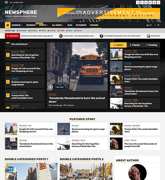Newsphere WordPress Magazine Theme