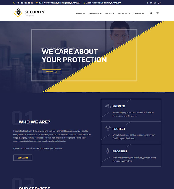 The Guard WordPress Business Theme
