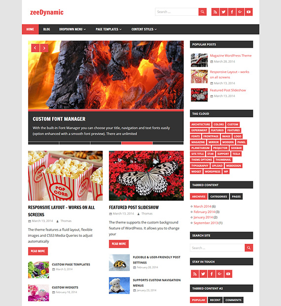 zeeDynamic – WordPress Magazine Theme