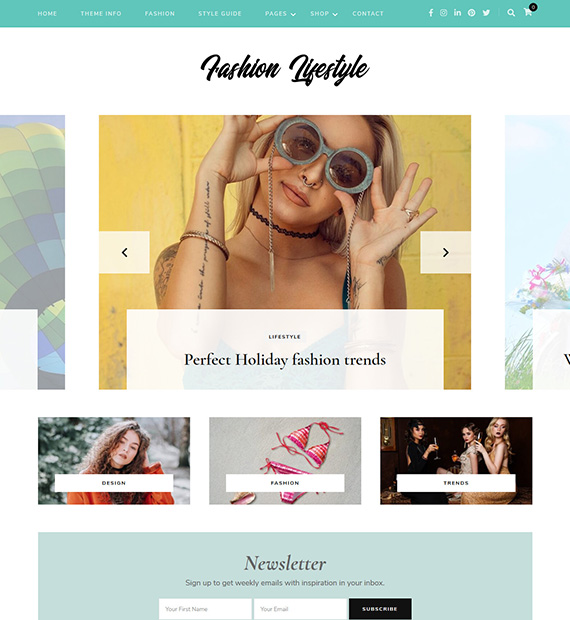 Fashion Lifestyle WordPress Blogging